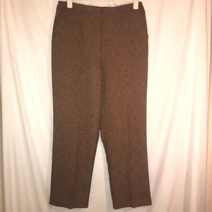 Alfred Dunner Brown Suit Pants Sz 14